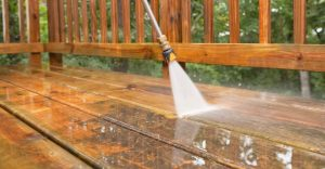 Carolina Pro Clean power washed deck 1