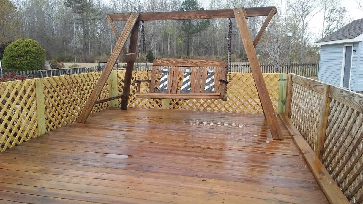 Carolina Pro Clean power washed deck 2