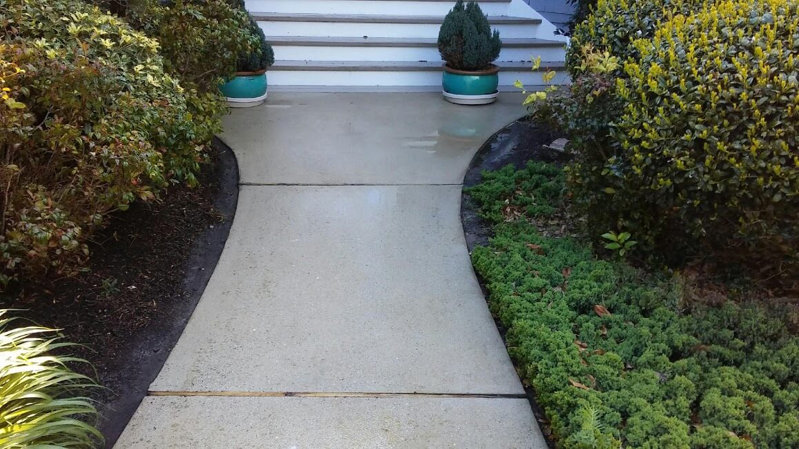 Carolina Pro Clean power washed walkway