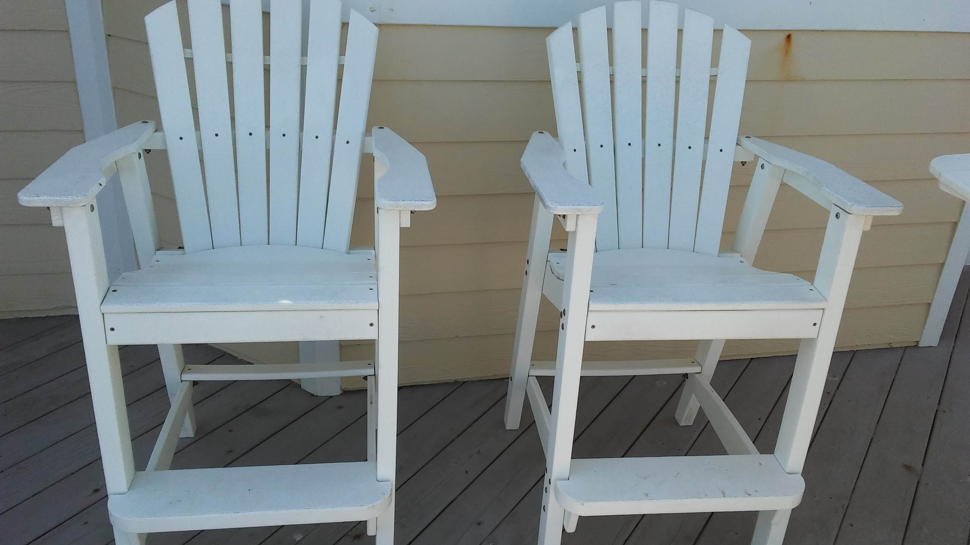 Carolina Pro Clean pressure washed chairs