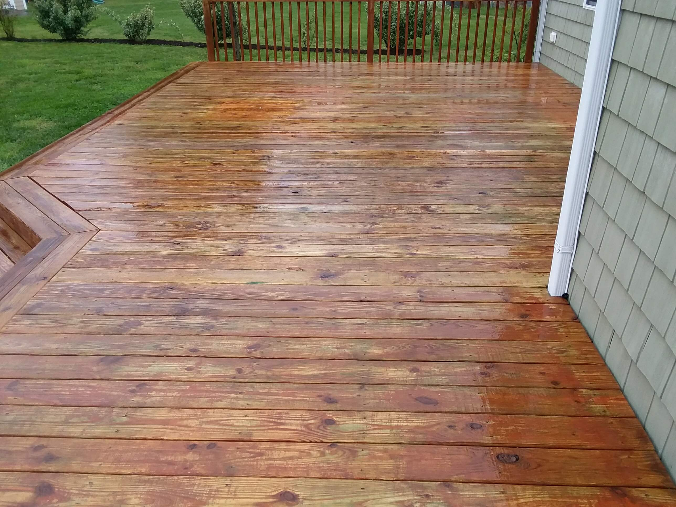 Carolina Pro Clean pressure washed deck 4
