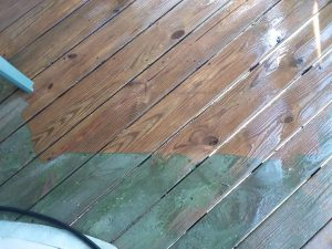 Carolina Pro Clean pressure washed deck 6