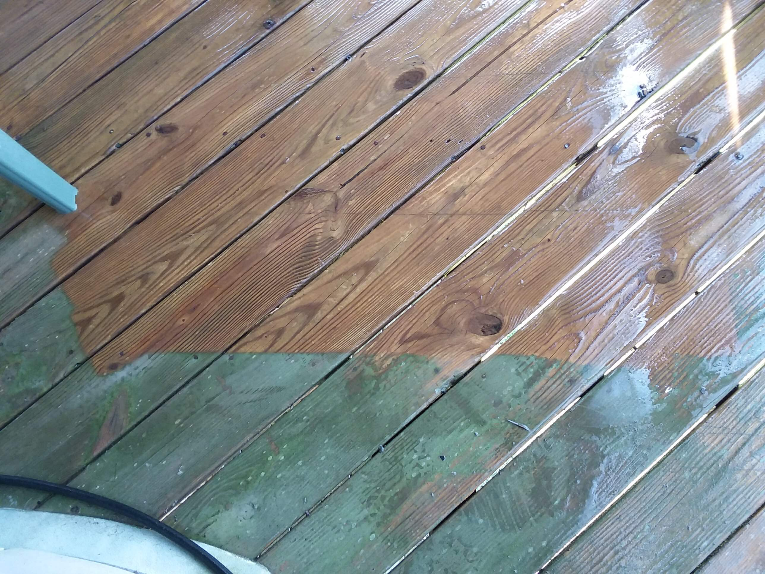 Carolina Pro Clean pressure washed deck 6