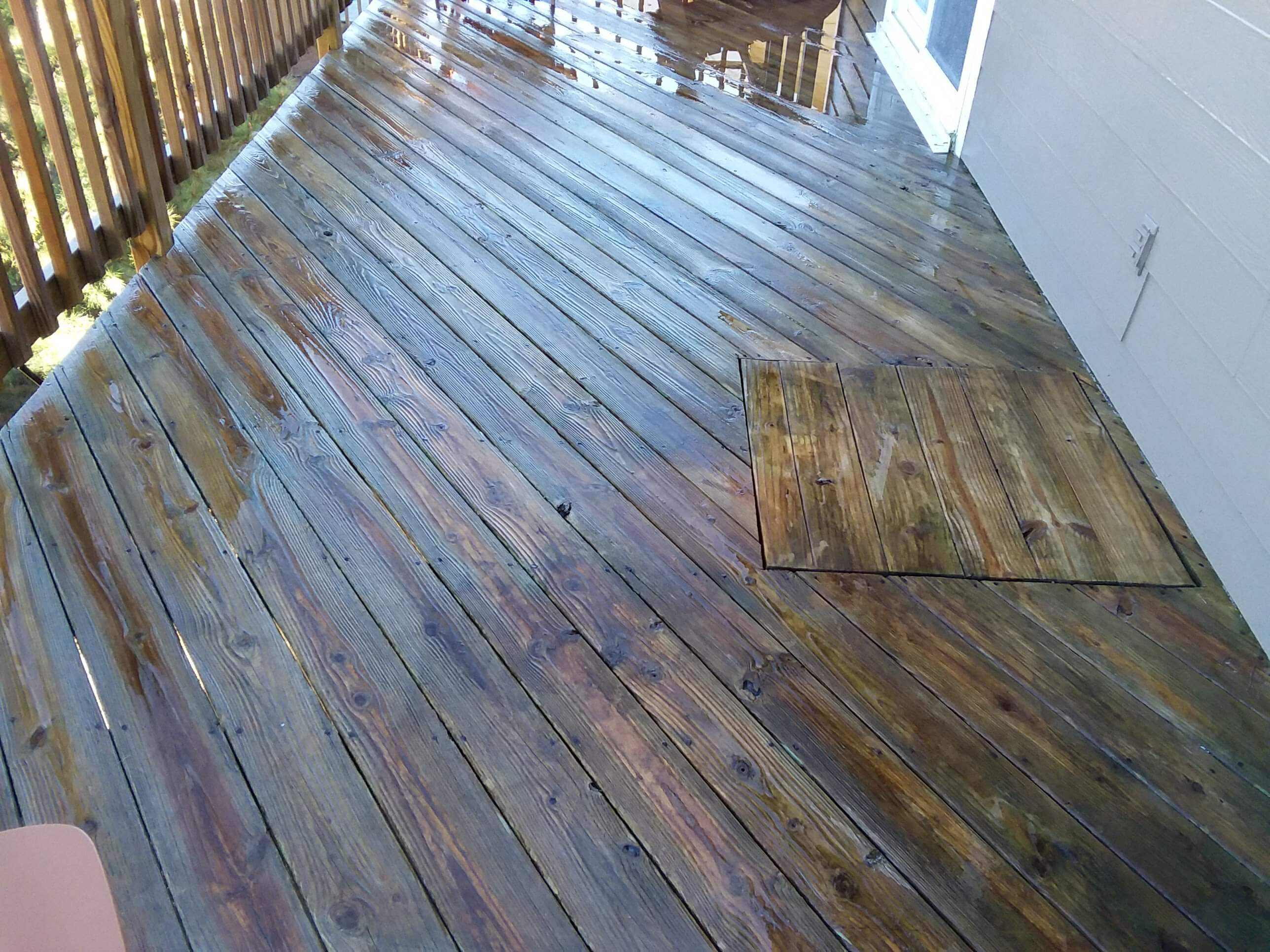 Carolina Pro Clean pressure washed deck 9