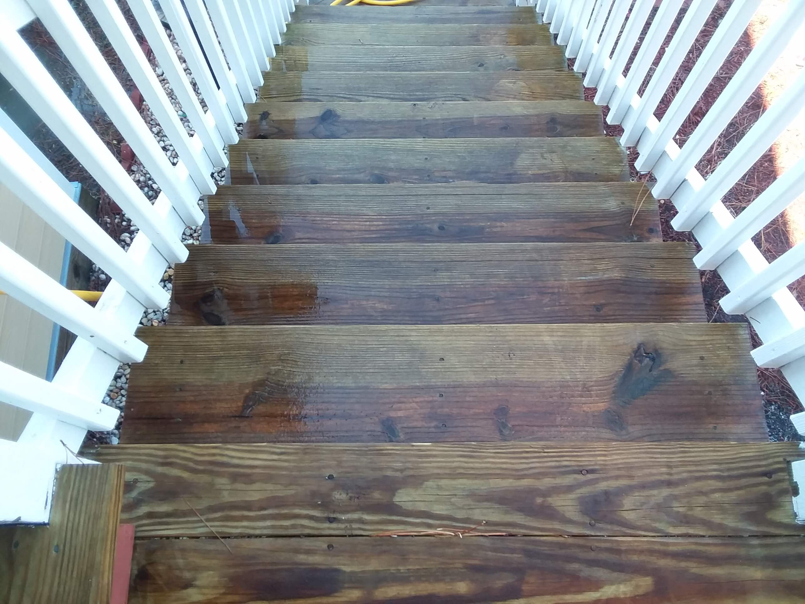 Carolina Pro Clean pressure washed steps 1